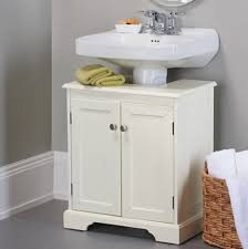 Bathroom Storage Cabinets Weatherby Bathroom Pedestal Sink Storage Cabinet Cream
