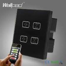 wifi controlled light switch wifi 4 gang remote dimmer wallpad black tempred glass wireless 4