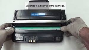 samsung ml 2850 2855 toner cartridge refill instructions youtube