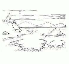 arctic scene coloring pages arctic animals coloring pages free