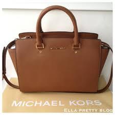 light brown mk purse ella pretty blog bag review a closer look at the michael kors