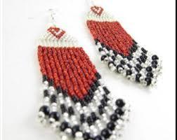 Chandelier Beaded Earrings White Bead 75 Best Small Short Seed Beaded Earrings Images On Pinterest