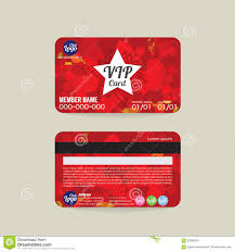Membership Cards Design Front And Back Vip Member Card Template Stock Vector Image