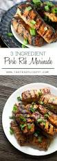 a simple 3 ingredient pork rib marinade to make your cookout quick