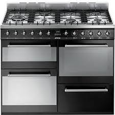 Smeg 110 Gloss Black Induction Smeg Syd4110bl Range Cooker Dual Fuel Black Rdo Kitchens