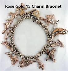 rose gold bracelet charm images 9ct rose gold and 9ct yellow gold charm bracelets fine shooting jpg
