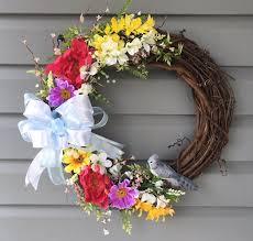 spring wreath summer wreath for front door summer wreath for
