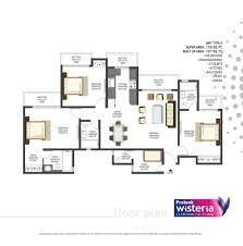 Wisteria Floor Plan Overview Prateek Wisteria At Noida Prateek Buidtech India
