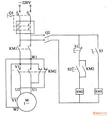 electric motor wiring diagram circuit single phase component