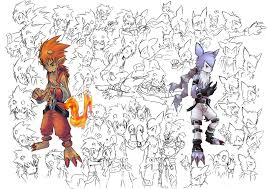 flame kid and wolf kid sketch by garmmon on deviantart