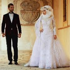 wedding clothes 2016 luxury white muslim women wedding clothes gown lace wedding