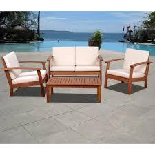 Eucalyptus Outdoor Table by Amazonia Las Vegas 4 Pc Eucalyptus Patio Set With Bonus Feron U0027s