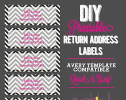 chalkboard and chevron return address labels avery template