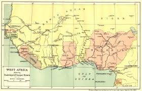 map of nigeria africa nigeria africa showing railways principal rivers 1936 map