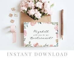 in bridesmaid card will you be my bridesmaid card etsy