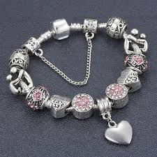 antique charm bracelet images Antique silver mon and son crystal charm bracelet fits brand jpg