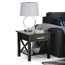home furniture kitchener simpli home kitchener farmhouse grey storage end table 3axcrgl002