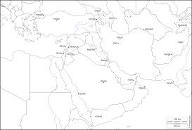 Southwest Asia And North Africa Blank Map by South With Blank Map Of Southwest Asia Roundtripticket Me