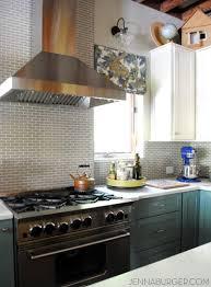 Blue Kitchen Backsplash Interior Kitchen Backsplash Blue Subway Tile Throughout