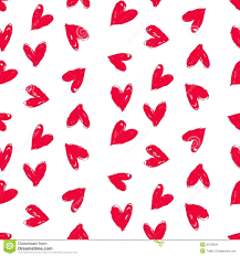 heart wrapping paper velentine s day pattern with painted hearts stock images