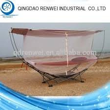 hammock steel folding hammock stand with mosquito netting outdoor