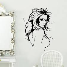 aliexpress com buy women mural vinyl wall decal
