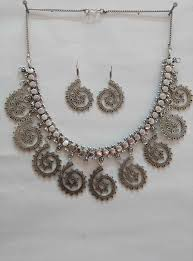 wholesale necklace set images Traditional oxidised silver necklace set wholesale indian fashion jpg