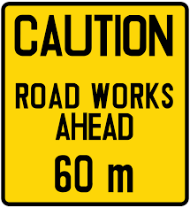 Temporary File Singapore Road Signs Temporary Sign Advance Warning Of