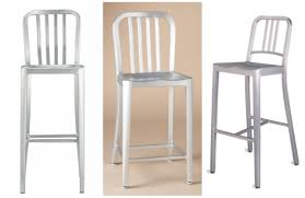 Crate And Barrel Bar Stool The Look For Less The Emeco Navy Barstool Vs Sundance And Crate