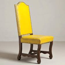 Yellow Upholstered Chairs Design Ideas Yellow Upholstered Dining Chair Lunion Me