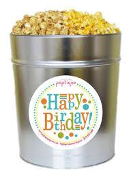 happy birthday 3 5 gallon popcorn tin poptique popcorn