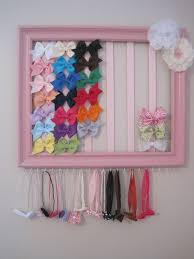 bow holders headband bow holder out of painted picture frame ribbon and