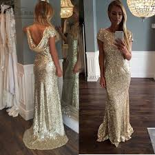 aliexpress com buy cheap gold sequin evening gowns backless