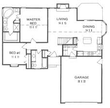 House Plans With Garage Extremely Inspiration 13 1200 Sq Ft House Plans With Garage 2