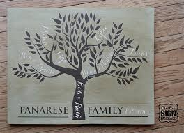 custom family tree wood sign great unique parents gift