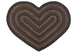 Stroud Rugs Heart Shaped Braided Rugs