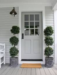 Topiary Planters - front door topiary all paint ideas
