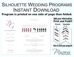 trifold wedding programs template trifold wedding program template free one page templates