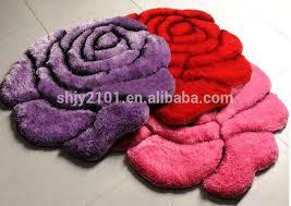 3d rose flower shaped shaggy carpet buy carpet 3d rose carpet