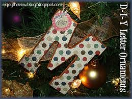 enjoy the view d i y wooden letter ornament