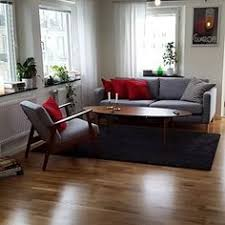 Ikea Living Room Chair by Living Room With Ikea Karlstad Sofa And Eames Lounge Chair My