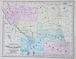 Colorado Mountains Map by Map Of The Rocky Mountain States 1865