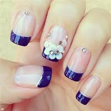 50 blue nail art designs top flowers blue nails and spring nails