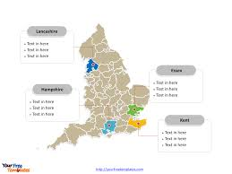 Counties Of England Map by Free England Editable Map Free Powerpoint Templates
