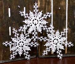 white glitter snowflake ornaments snowflake ornaments winter