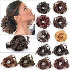bun accessories 4 style black brown blond women hair bun drawstring hair