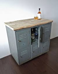 kitchen island casters vintage metal lockers with reclaimed wood top on casters