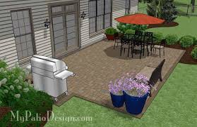 Paver Patio Plans Large Rectangular Paver Patio Design Plan