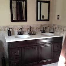 remodeled bathroom manchester tan paint on walls cabinet and