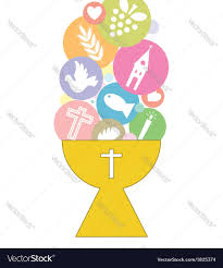 1st Holy Communion Invitation Cards First Communion Invitation Card Royalty Free Vector Image